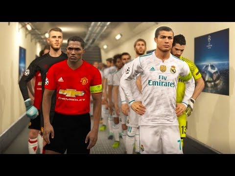PES 2018 Champions League – REAL MADRID VS MANCHESTER UNITED – Legend Level Gameplay PS4