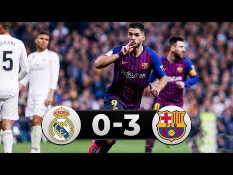 Real Madrid vs Barcelona 0-3 All Goals & Highlights 2019 HD
