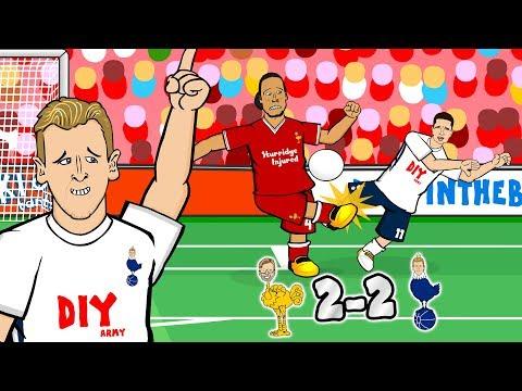 😧CONTROVERSY! LIVERPOOL 2-2 SPURS!😧(Parody Goals Highlights Penalty Jon Moss Linesman Salah Kane)