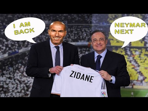 OMG! REAL MADRID POTENTIAL LINEUP WITH ZINEDINE ZIDANE FT. NEYMAR,HAZARD