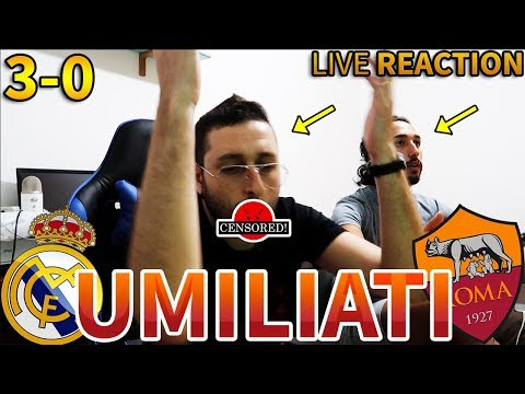 MA VAFFANC*LOOO!!!! Real Madrid-Roma 3-0 [LIVE REACTION]