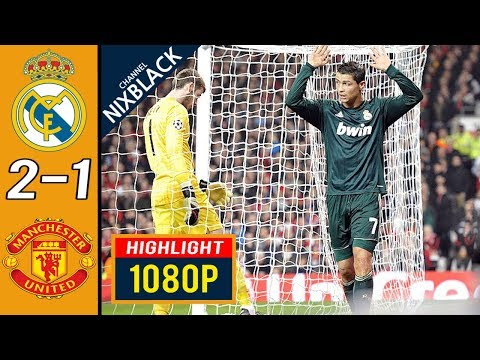 Real Madrid 2-1 Manchester United 2013 UCL Round of 16 All goals & Highlights FHD/1080P