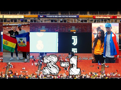 Real Marid Vs Juventus 3-1 | Match Day Vlog | August 4 2018 | FedExField Staduim