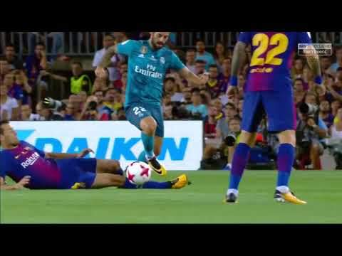 Spanish Super Cup 1st leg Barcelona vs Real Madrid  2017   HD   Full Match   English Commentary