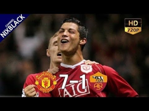 ► Manchester united 7-1 AS Roma 2007 UCL Quarter finals 2nd Leg All Goals & Extended Highlight HD