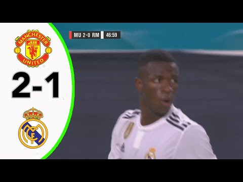 Man Utd vs Real Madrid (2-1) All Goals & Highlights – ICC 2018