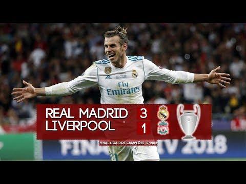 Real Madrid 3 x 1 Liverpool – Melhores Momentos (HD 720p) Final Liga dos Campeões 2018