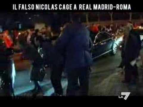1/2 Falso Nicolas Cage (Paolo Calabresi) @ Real Madrid-Roma