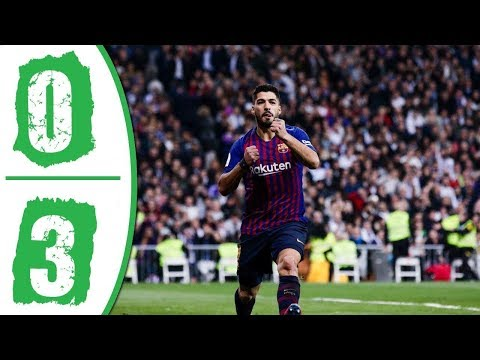 Real Madrid vs Barcelona Highlights 0-3 English Commentary 27-2-2019