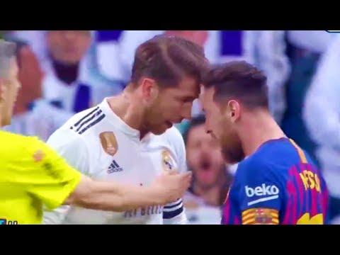 Lionel Messi vs Sergio Ramos FIGHT! El Clasico Real Madrid vs Barcelona 0-1