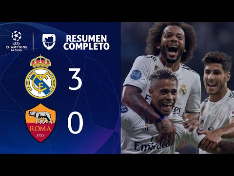 Real Madrid 3-0 Roma – GOLES Y RESUMEN – Grupo G UEFA Champions League