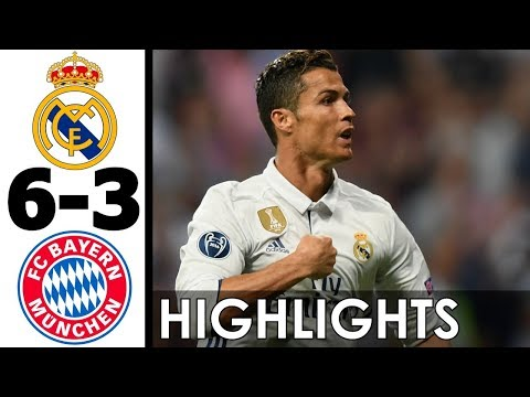 Real Madrid vs Bayern Munich 6-3 Goals and Highlights w/ English Commentary (UCL) 2016-17 HD 720p