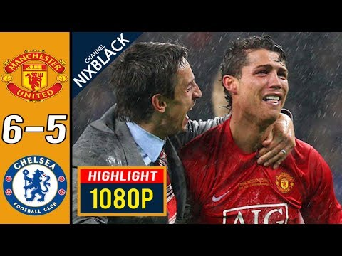 Manchester United 6-5 Chelsea 2008 Champions League Final All goals & Highlights FHD/1080P