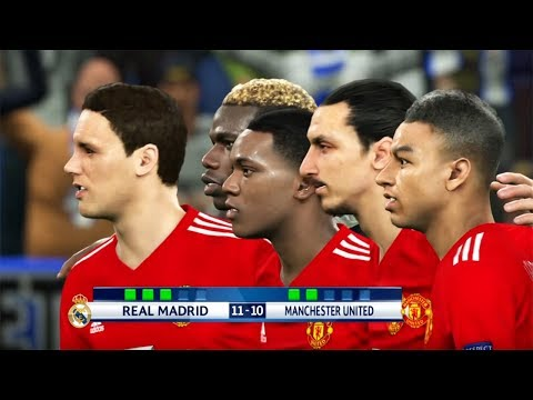 REAL MADRID VS MANCHESTER UNITED | Penalty Shootout | PES 2018 Gameplay