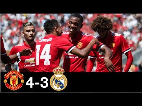 Manchester United vs Real Madrid 4-3 All Goals & Extended Highlights Resumen y Goles (Last Matches)