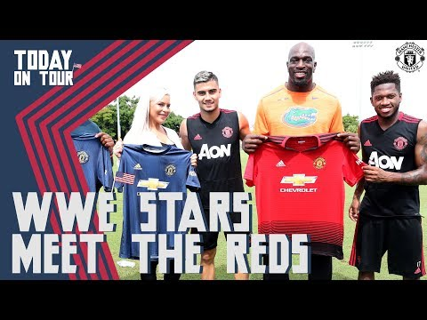 WWE Stars Dana Brooke, Titus O'Neil, Apollo Crews, Drew McIntyre & Mike Rome Meet MUFC!