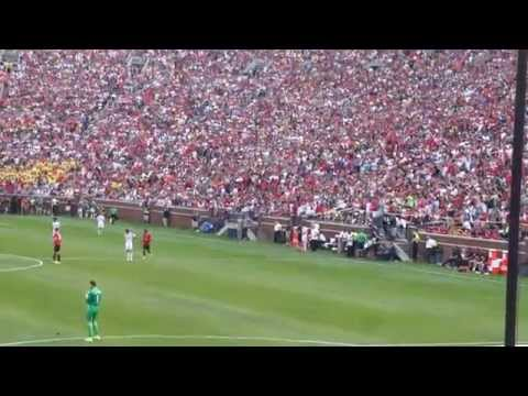 Cristiano Ronaldo's entry (Manchester United vs Real Madrid at Michigan stadium)