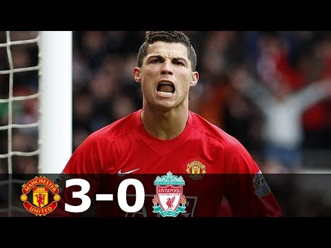 Manchester United vs Liverpool 3-0 – EPL 2007/2008 – Highlights (English Commentary)
