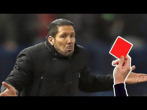 Top 10 Coach Sent off (Red card) during match ● 2018