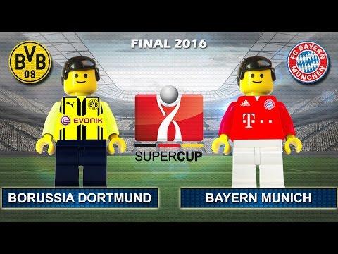 German Super Cup 2016 • Borussia Dortmund vs Bayern Munich 0-2 • DFL Supercup Film Lego Football