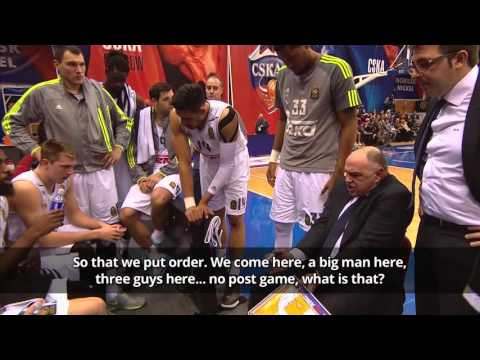 Luka Doncic reacts to Pablo Laso's time-out with three consecutive three-pointers