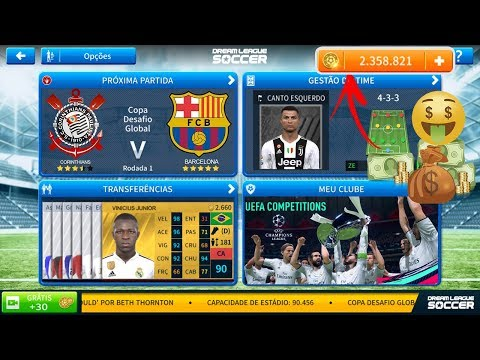 Dream League Soccer 2019 Oficial Dinheiro Infinito Kits Barcelona, Real Madrid & Juventus