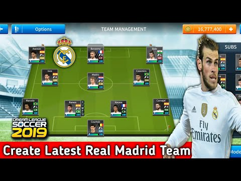 How To Create Real Madrid Team In Dream League Soccer 2019 | Android [No Root & No Mod Apk]