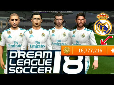 How To Hack Real Madrid Team 2018 ● All Players 100 & Kits Logo ● Dream League Soccer 2018