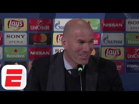 Zidane's Funny Reaction To Ronaldo Overhead Kick