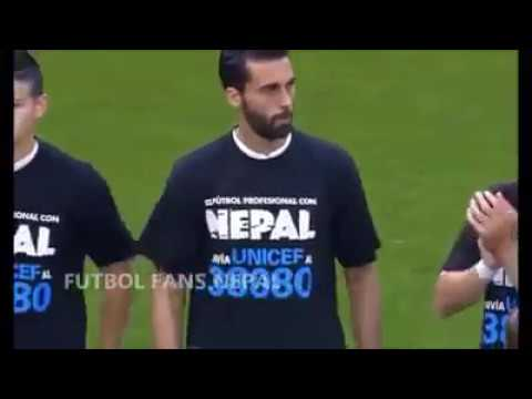 Nepali T shirt wearing Ronaldo football real madrid