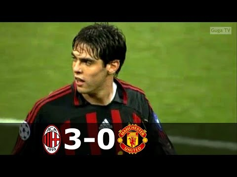 AC Milan vs Manchester United 3-0 – UCL 2006/2007 – Highlights (English Commetnary)
