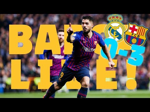 REAL MADRID 0-3 BARÇA | ⚽️ El Clásico 🔥 LIVE: Warm up & Match Center 🔵🔴