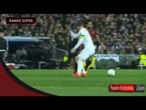 Mohamed Salah Humilla a Sergio Ramos Real Madrid vs AS Roma 2 0 Champions League 08 03 2016