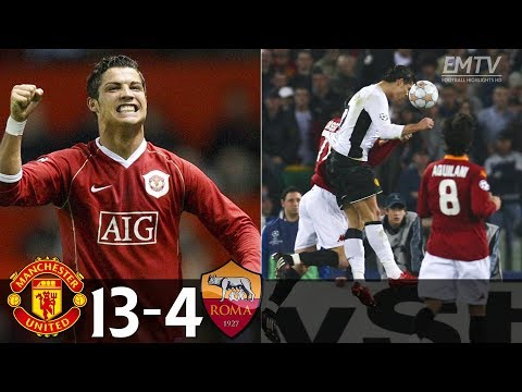 Manchester United 13-4 AS Roma All Goals 2006-2008