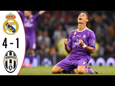 Real Madrid vs Juventus | 4-1 | Highlights & Trophy | UCL Final – 2016/2017