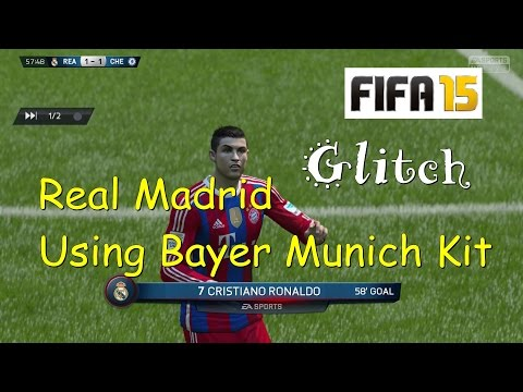 FIFA 15  Glitch : Real Madrid Using Bayer Munich Kit