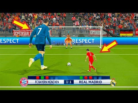 PES 2018 | BAYERN MUNICH (Tiny Players) VS REAL MADRID (Giant Players) | Penalty Shootout