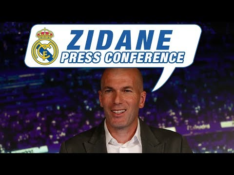 ZINEDINE ZIDANE | Back at Real Madrid press conference