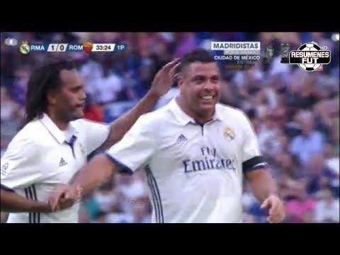 Real Madrid Leyendas vs Roma Leyendas 4-0 2017 Resumen COMPLETO GOLES Amistoso