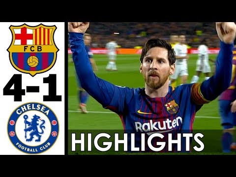 FC Barcelona vs Chelsea 4-1 Goals and Highlights w/ English Commentary (UCL) 2017-18 HD 720p