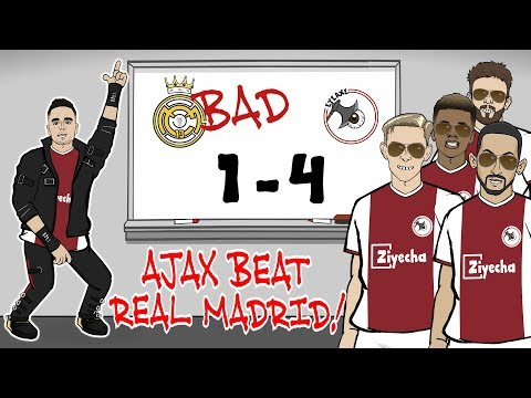 🤯Ajax beat Madrid!🤯 REAL ARE BAD! Ajax win 4-1 (Champions League Parody Goals Highlights Tadic)