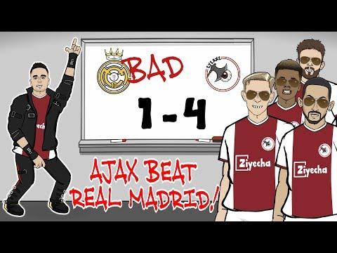 🤯Ajax beat Madrid!🤯 REAL ARE BAD! Ajax win 4-1 (Champions League Parody Goals Highlights Tadic)