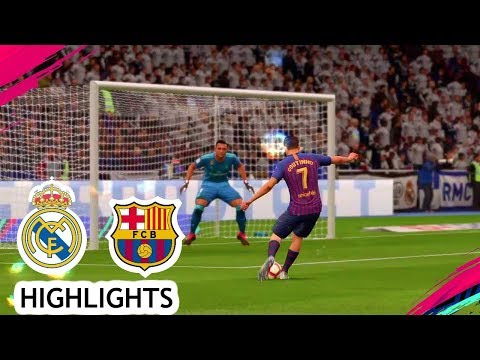 FIFA 19 PS4/PS3 Gameplay – Highlights El Clasico Real Madrid v FC Barcelona 2018/2019
