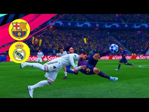 FIFA 2019 PS4 Gameplay FC Barcelona v Real Madrid ( 11 – 3 ) Champions League Final