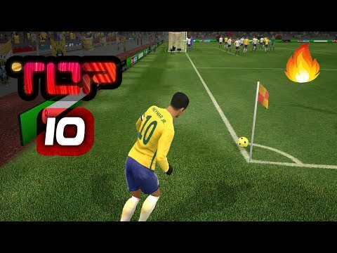 TOP 10 BEST GOALS 💙 Dream League Soccer 2019