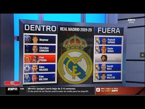 Estos serían los Fichajes del Real Madrid 2019 – 2020