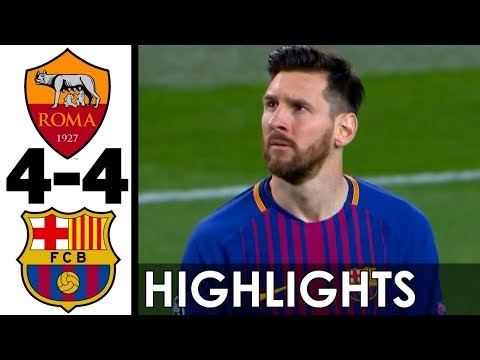 AS Roma vs FC Barcelona 4-4 All Goals and Highlights w/ English Commentary (UCL) 2017-18 HD 720p