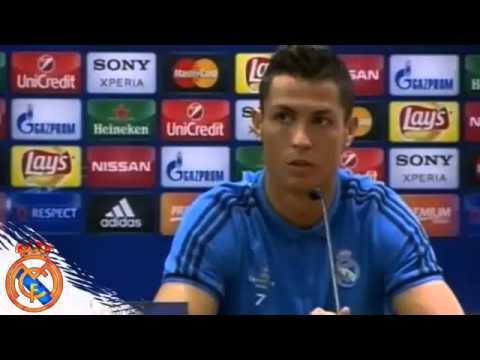 La pregunta que enfadó a Cristiano Ronaldo • Rueda de prensa Roma vs Real Madrid • 2016