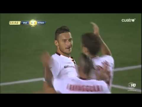 Gol (golazo) de Totti – Real Madrid vs. Roma – ICC 30/07/2014