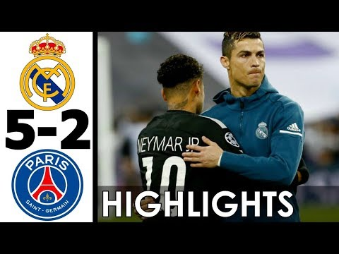 Real Madrid vs PSG 5-2 All Goals and Highlights w/ English Commentary (UCL) 2017-18 HD 720p